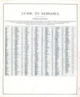 Nebraska - Guide, United States 1885 Atlas of Central and Midwestern States